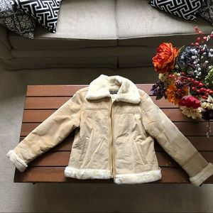 Vintage Baby Phat Leather Suede Tan Shearling